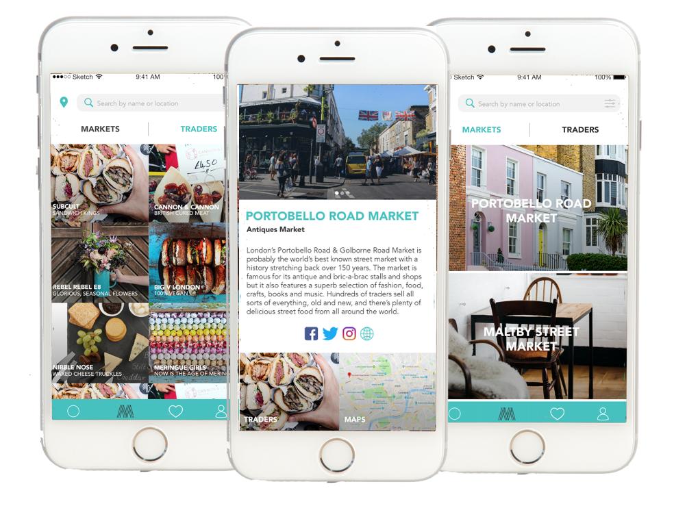 Marketti app example